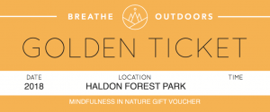 Mindfulness in nature - Gift voucher (Christmas 2017 £15)